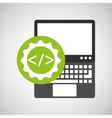 laptop technology coding web icon vector image