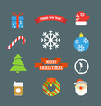 Christmas elements collection vector image vector image