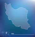 Map of Iran vector image vector image