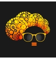 Black head woman with strange pattern on her hair vector image