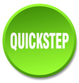 quickstep green round flat isolated push button vector image