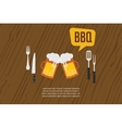 beer glasses as BBQ invitation vector image