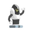 cartoon crawler robot cyborg character vector image