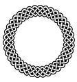 Celtic round frame border pattern - vector image