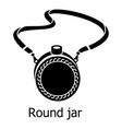 flask icon simple black style vector image