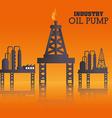 Industry design over orange background vector image