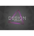 Neon triangle design element vector image