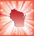 Red Wisconsin vector image
