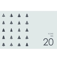 Set of firs icons vector image