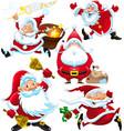 Set of funny Santa Claus vector image