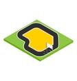 Speedway isometric 3d icon vector image