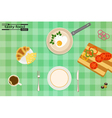 tasty and healthy food for each day vector image