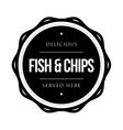 Fish and Chips vintage stamp vector image