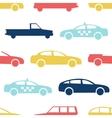 Retro car seamless pattern vector image