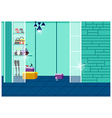 Wardrobe Interior Background vector image vector image