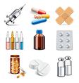set medicaments vector image vector image