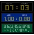 Digital LED Display Board vector image