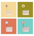 assembly flat icons school calendar vector image