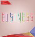 Abstract background for business solution shaped w vector image