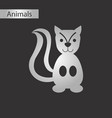 black and white style icon squirrel vector image