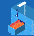 businessman diving into the vector image