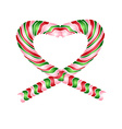Candy striped heart vector image
