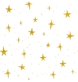 Hand drawn golden stars seamless pattern vector image