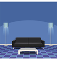 Modern Living Room - Blue vector image