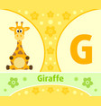 the english alphabet with giraffe vector image
