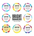 Isolated abstract bright colorful round shape logo vector image