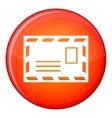 Postage envelope with stamp icon flat style vector image