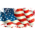 American Flag Grunge vector image