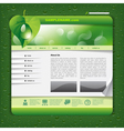 Ecology Website Template vector image vector image