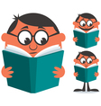 Reading Book vector image vector image