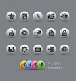 Web Site Development Icons Pearly Series vector image vector image