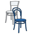Classic color chairs vector image