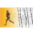runner number vector image