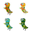 colorful birds vector image