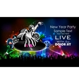 Disco Jockey playing music on New Year Party vector image