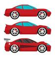 flat racing car set eps 10 vector image