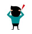 man cartoon backside icon image vector image
