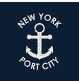 new york typography t-shirt graphics vector image