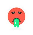 red vomits emoji icon vector image
