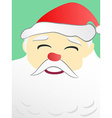 Santa Claus portrait with copy space on beard vector image