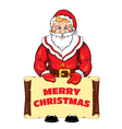 Santa Claus with a banner vector image