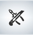 simple icons related to tools pliers and knife vector image