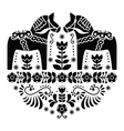 Swedish Dala or Daleclarian horse folk pattern vector image