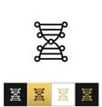 DNA genetics chromosome code icon vector image