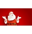 Merry Santa Claus telling vector image