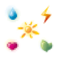 pixel style icons vector image vector image
